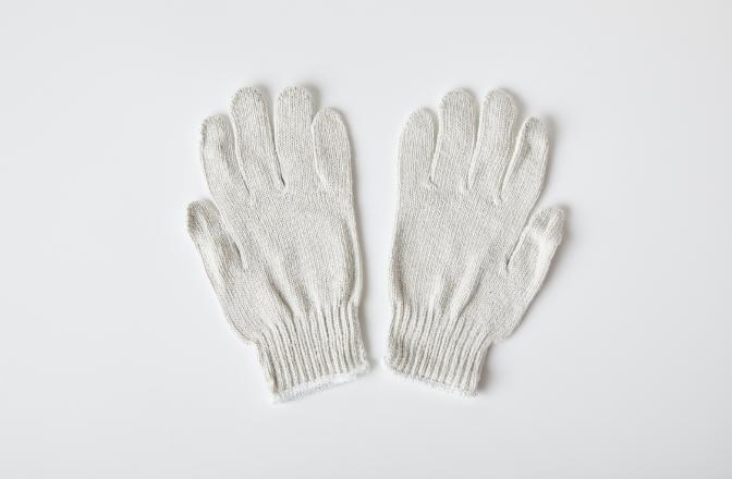 特紡軍手2本糸(マテリアル繊維混合品)のイメージ