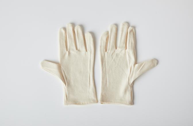 品質スムス手袋(未晒)のイメージ
