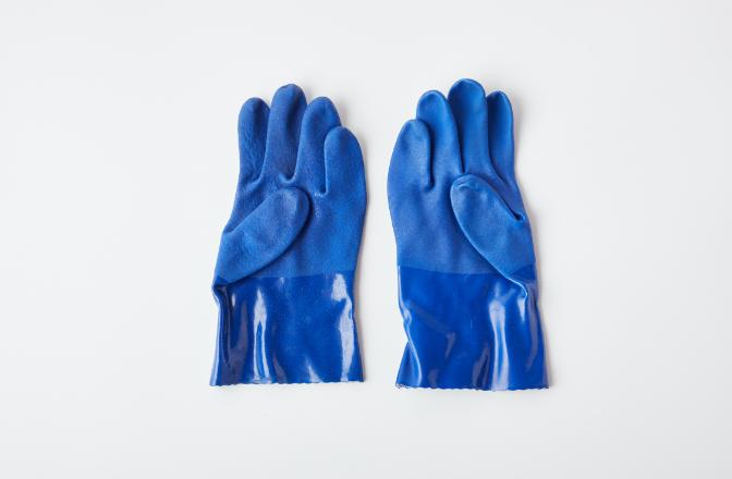 再生耐油ゴム手袋(リユース品)のイメージ